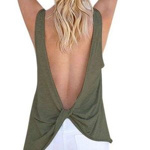 Bralette Co Open Back Tank Top